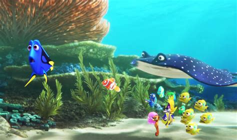 Fishy Friends And Family Disney Pixar Finding Dory new finding nemo sequel finding dory trailer with