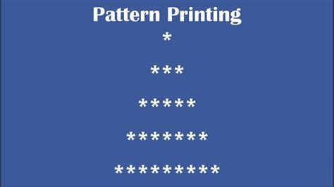 pattern star program in java c practical and assignment programs pattern printing 8