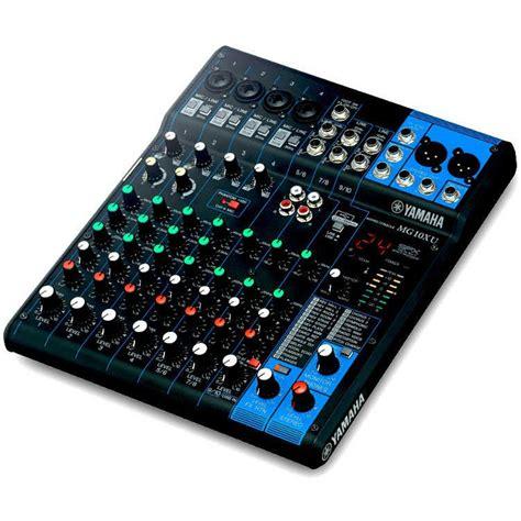 Mixer Yamaha 2 Channel Yamaha Mg10xu 10 Channel Mixer Dawsons