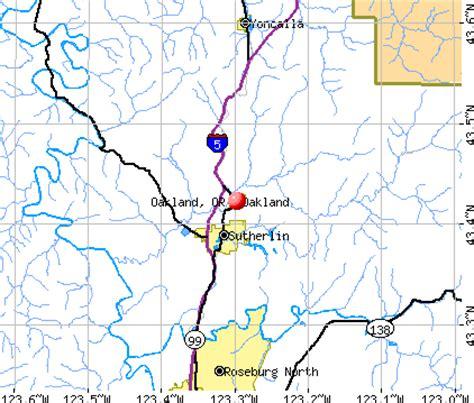 map of oakland oregon oakland oregon or 97462 profile population maps real