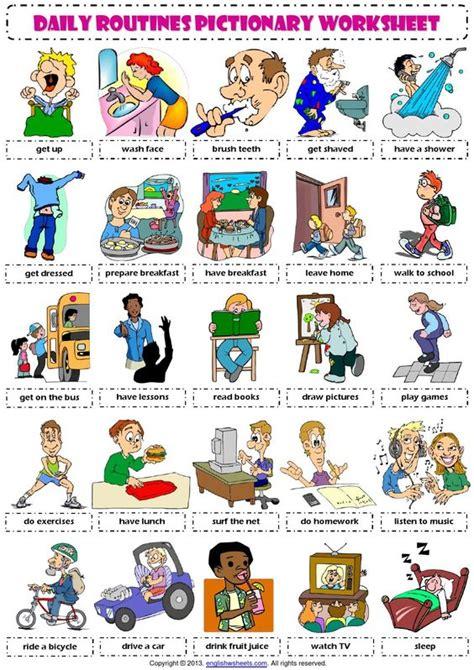 imagenes rutinas diarias en ingles nodo comunicaci 211 n rutinas vocabulario