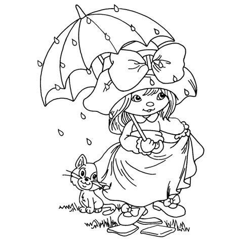 free coloring pages of april showers bring
