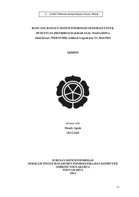 format penulisan cover skripsi pedoman penyusunan penulisan proposal penelitian dan skripsi