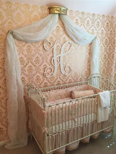 rose themed baby room 15 cute baby girls nursery wallpapers for inspiration