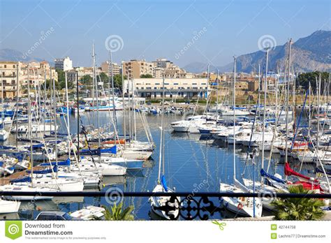 boats in italy called cala paleermo editorial stock photo image 42744758