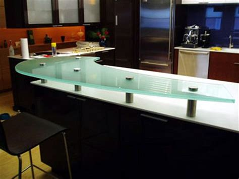 frosted bar top 3 4 sandblasted glass countertop floating shelves mi
