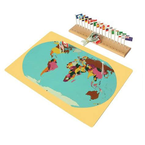 what does map stand for montessori materil world map flags and stand for early development educational wooden