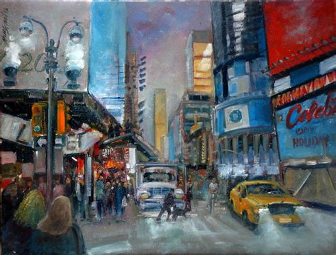 painting new 2014 42nd new york city painting 18x24 in groat sr