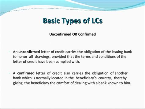 Revocable Letter Of Credit letters of credit