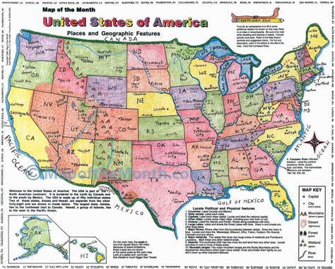 physical map of the united states for usa map blank outline map 16 by 20 inches activities