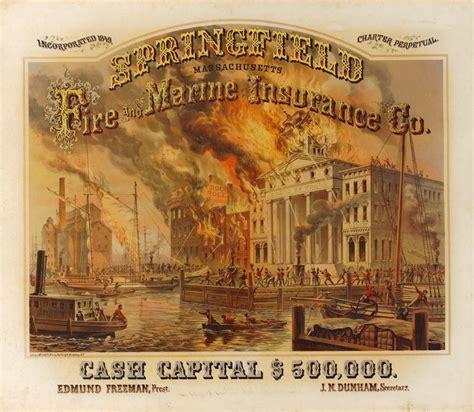 springfield marine company poster springfield and marine insurance co hatch