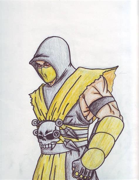 how to draw scorpion from mortal kombat x easy things to scorpion drawings mortal kombat easy www imgkid com