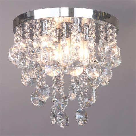 crystal bathroom ceiling light elisa 5 light crystal effect bathroom ceiling light from