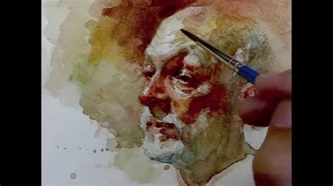 watercolor step by step how to paint portrait demo by zimou