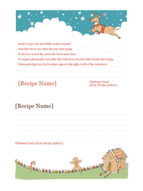 open office recipe card template recipe cards