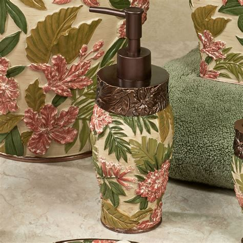 tropical bathroom accessories tropical haven bath accessories