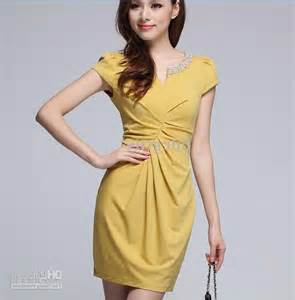 womens clothing womens yellow dress photo 4 real photo pictures