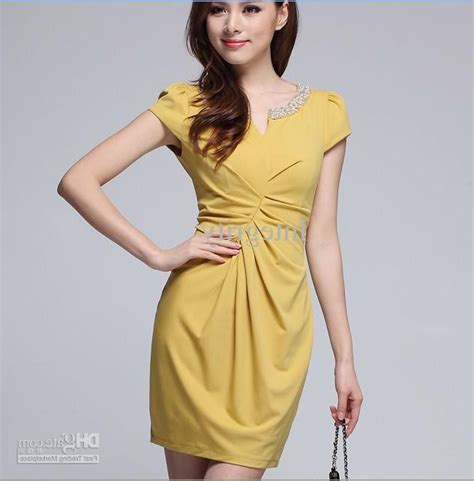 womens yellow dress photo 4 real photo pictures