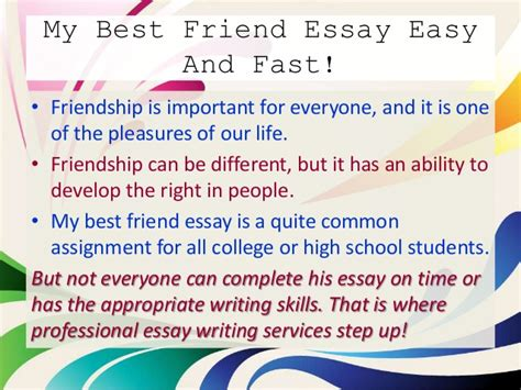 sle essay my best friend essay writing my best friend has a
