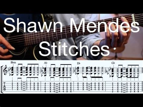 tutorial guitar stitches how to play stitches shawn mendez acoustic guitar