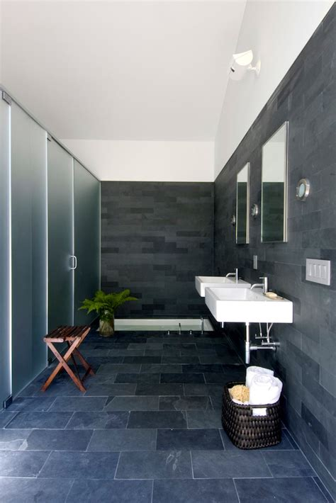 black slate bathrooms 15 bold and beautiful black bathroom design ideas