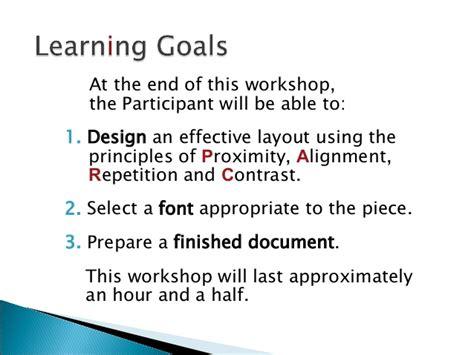 workshop layout principles graphic design for non designers