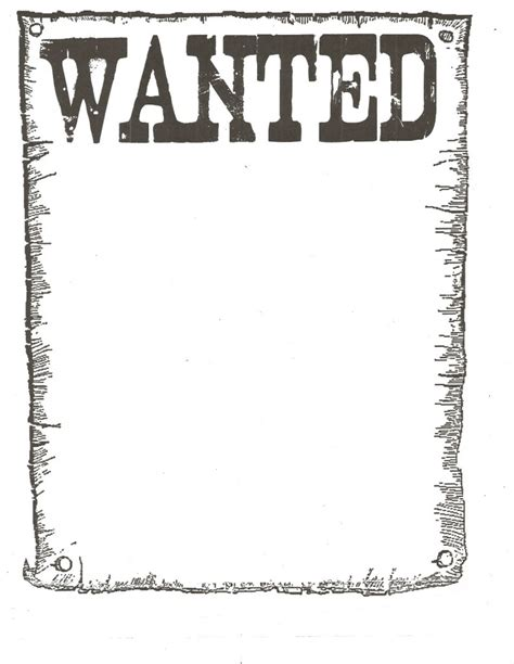 printable wanted poster background wanted poster template for kidsclassroom books worth