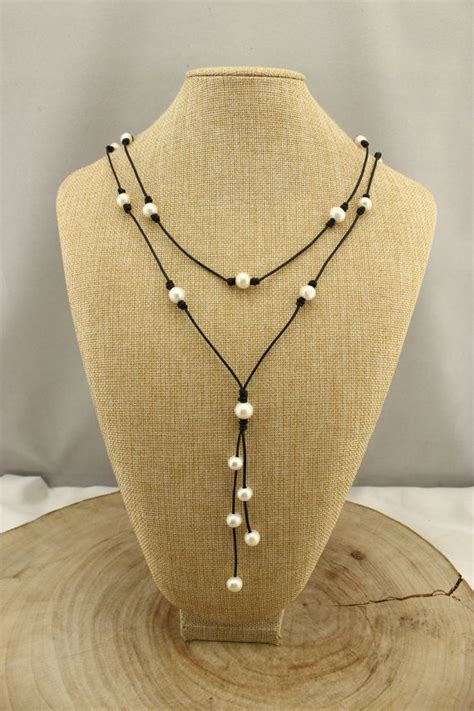 Handmade Leather Necklaces - 17 best ideas about freshwater pearl necklaces on