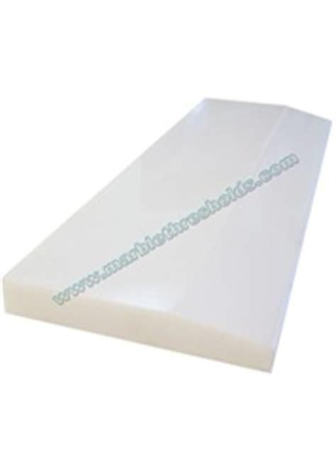 "Pure White Agglomerate Stone Polished Threshold 4""x36""x5/8"