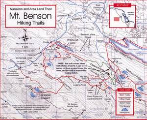 hiking trails map mt benson hiking trail map nanaimo bc mappery