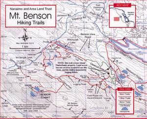 mt benson hiking trail map nanaimo bc mappery