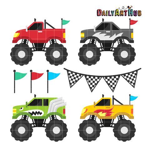monster trucks clipart monster trucks clip art set daily art hub