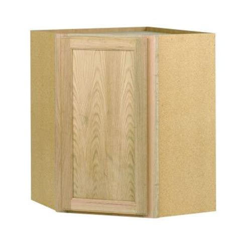 home depot kitchen cabinets unfinished 24x30x24 in corner wall cabinet in unfinished oak