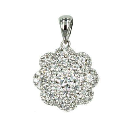 In Pendant by Cluster Pendant In White Gold Jems Of Remuera