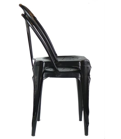 Chaise Metal Noir 961 by Chaise Metal Noir Chaise En Metal Park Lot De 4 Noir