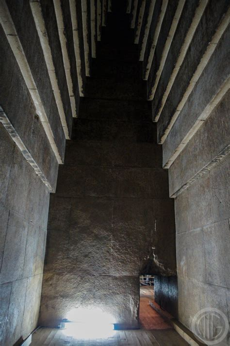 Pyramid Interior by Why Is The Bent Pyramid At Dashur In Bent