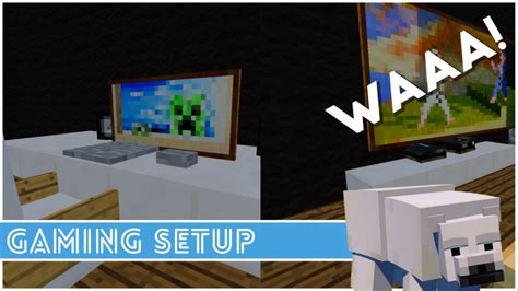 how to make a gaming setup minecraft how to make a gaming setup minecraft project