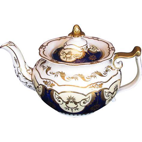 yates porcelain teapot antique early 19th c