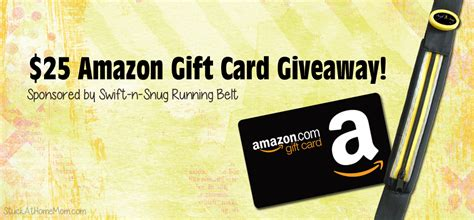 Swift Gift Cards - 25 amazon gift card giveaway sponsored by swift n snug running belt