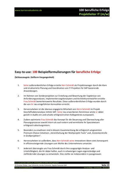 Letter Of Recommendation Zeugnis 4 x arbeitszeugnis projektleiter it m w karriereakademie
