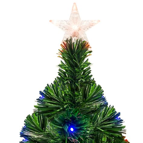 christmas trees at walmart willows ca pre lit fiber optic 7 green artificial tree with led multicolor lights and stand