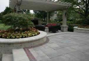 pergola unilock paver patio