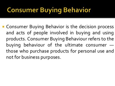 Consumer Behaviour Notes For Mba by Mba Notes Marketing