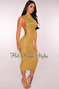 Knit Midi Dress gold metallic knit lace up midi dress