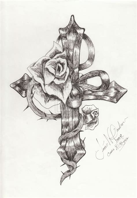 rose tattoo with wings cross designs crosses with roses and wings