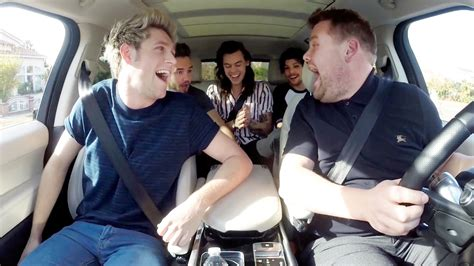 corden joins one direction for hilarious carpool