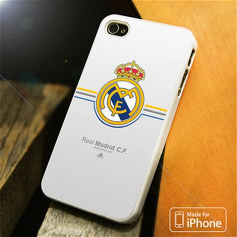 Real Madrid Logo White Iphone 4 4s Casing Hp Cover Hp Hardcase shop real madrid iphone 4 cases on wanelo