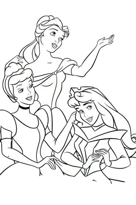 disney all princess coloring pages bing images