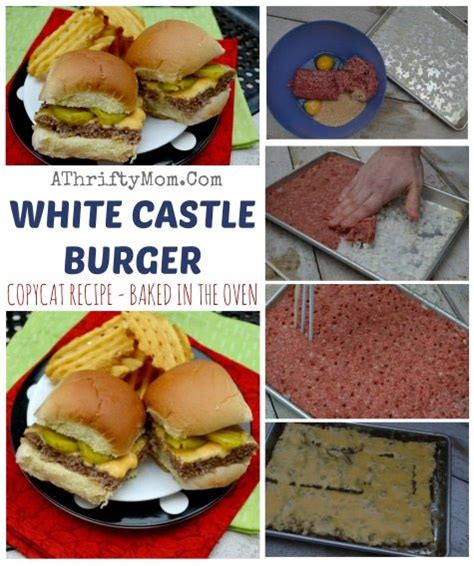 printable easy bake oven recipes white castle burger copycat recipe baked in the oven