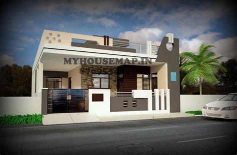 Simple 3 Bedroom House Plans home house map elevation exterior 3d front elevation
